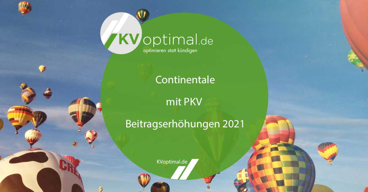 Beitragserhöhung Continentale PKV 2021