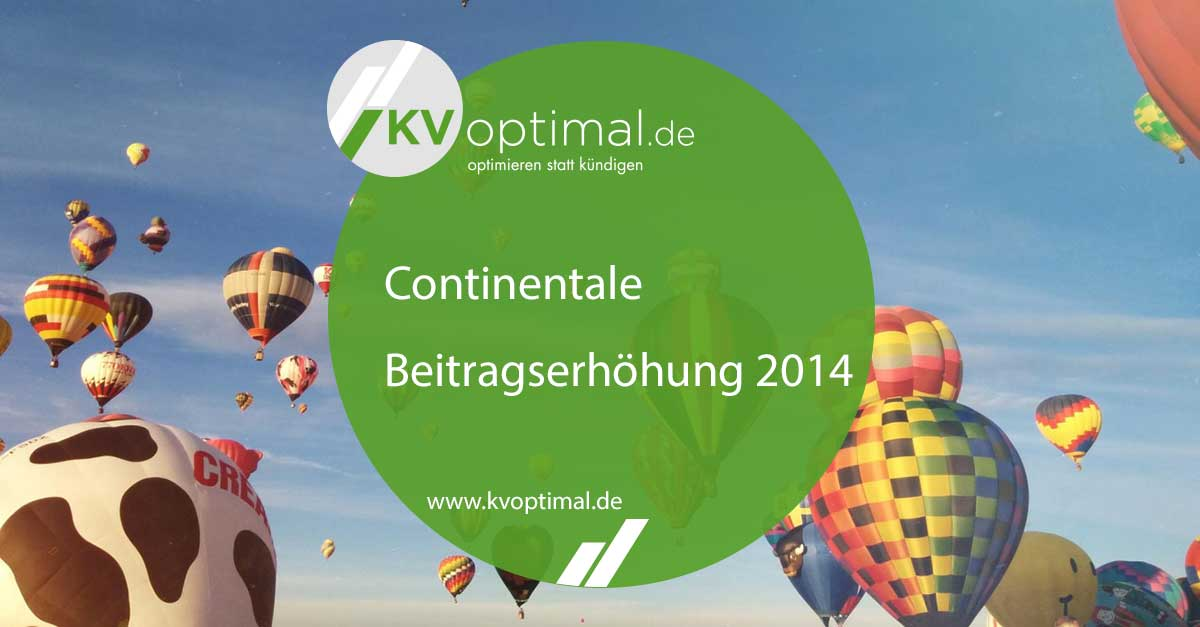 Continentale Beitragserhöhung 2014
